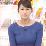 永島優美のめざましニット画像がかわいい!カップサイズや美脚が過激!
